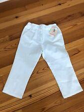 Nwt E-Land Kids Boutique Brand Girls White Capris Capri Pants Size 7