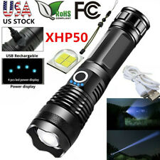 XHP P50 Powerful Focus Flashlight USB Zoomable Torch Hunting Lamp 18650 / 26650