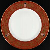 "Tiffany & Co. 1999 Burgundy 8"" Commemorative Plate 200th Anniversary of Congress"