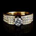 AUTHENTIC NATURAL 1.5 CT SOLITAIRE W ACCENTS DIAMOND 14K YELLOW GOLD BRIDAL RING