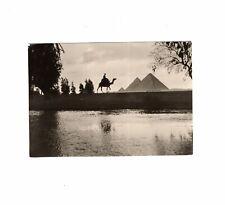 AK Ansichtskarte Eventide near Pyramids of Giza / Egypt