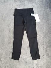 Women's 7/8 Length Lululemon High Times Pant Wing Mesh/Side Nets Black sz 6