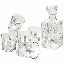 Bormioli Rocco Selecta 6 Whiskey Glasses and Italian Gift Whiskey Decanter Jug