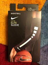 (New) Nike Pro Elite Sleeves Basketball L/Xl Black Pair Unisex Free Shipping!