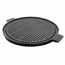 Typhoon Round Cast Iron Reversible Griddle Grill Plate