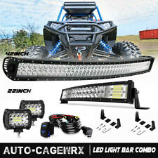 "42Inch LED Work Light Bar Combo+22""+4"" PODS For Truck  SUV 4WD ATV OFFROAD Ford"