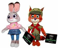 Zootopia Plush Nick Wilde Junior Ranger & Young Judy Hopps Disney Store New