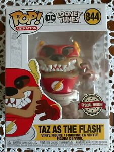 TAZ as THE FLASH, DC Looney Tunes Funko Pop Vinyl Figure!
