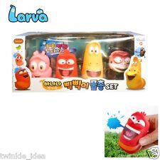 4pcs Larva Korean Comic Show Water Gun Whistle Figure Characters Toy Kids Gift