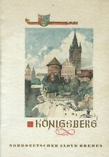 1935 North German Norddeutscher Lloyd Bremen Germany 3rd Class Menu Konigsberg