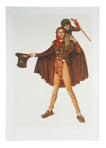 """""""Tiny Tim"""" by Norman Rockwell Lithograph on Arches Paper Ettinger Inc. 1977"""
