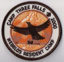 BSA Patch, Camp Three Falls 2000, Webelos, Ventura County Council California