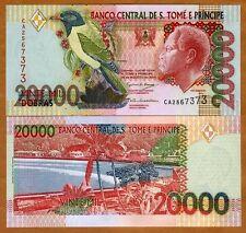 St Thomas & Prince, 20,000 (20000) Dobras, 2004 P-67 (67c), UNC > Colorful
