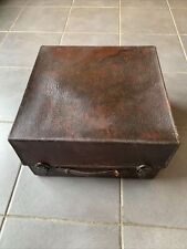 Vintage Leather Suitcase Carry All Case Trunk