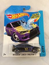 Hot Wheels Color Shifters Mitsubishi Lancer Evolution X -  2014 - NM Card