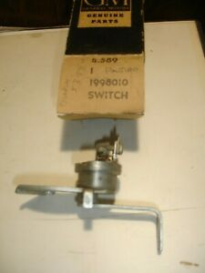 NOS 1953 & 1954 Pontiac hand brake switch in GM 1998010 box