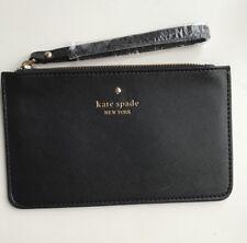 Kate Spade Pouch Black Zip Wallet Wristlet Leather Organiser Phone Purse