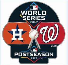 2019 WORLD SERIES PIN WASHINGTON NATIONALS HOUSTON ASTROS DUELING TEAM BASEBALL