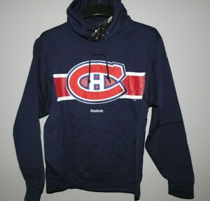 NHL Montreal Canadiens Lace-Up Hooded Sweatshirt New Mens Sizes $70