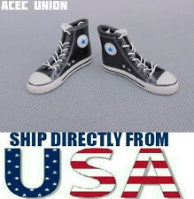 "U.S. SELLER - 1/6 Converse All Star Style Shoes Boots BLACK For 12"" Male Figures"