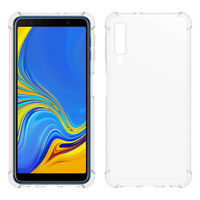 SDTEK Samsung Galaxy A7 (2018) Case Cover Gel Bumper Soft Silicone Clear