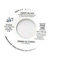 NANCY WILCOX Coming on Strong  45 RECORD RARE DJ PROMO R&B NORTHERN SOUL