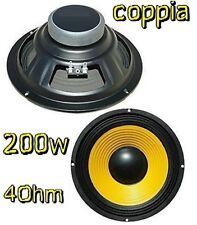 """COPPIA WOOFER ALTOPARLANTI PREDISPOSIZIONE AUTO 6,5"""" (16,5cm) 200W 4Ohm standard"""