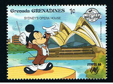 WALT DISNEY GRENADA - GRENADINES MICKEY SYDNEY 1 Francobollo 1988 nuovo