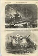 1855 batería flotante de destrucción del Etna Millwall Scott Russells