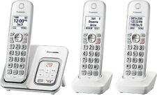 🔥 Panasonic 3-Ct Handset Cordless Telephone with Answering Machine - White