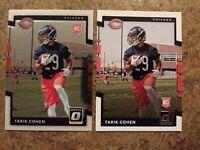 Tarik Cohen NFL Rookie Lot Optic Donruss Rookie Donruss Rookie Mint Condition