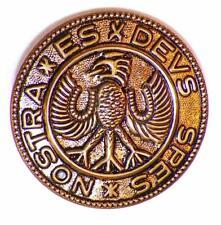 Vintage Hessian Soldier Button Es Devs Spes Nostra Teutonic Eagle Military #61