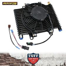 "Aeroflow Competition Transmission Oil Cooler Fan & Switch 13.5""x9""x3.5"" 1/2"" NPT"