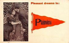 Plainview MN Lady Hugs Tree~Gentleman's Kiss~Orange Pennant~Pleasant Dreams 1912