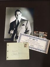 SIGNED CHESTER MORRIS ALBUM PAGE VINTAGE RARE 1938 UACC REG DEALER sale