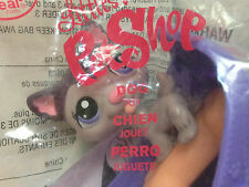 McDonald's Littlest Pet Shop Grey Dog Toy Never Removed From Package No Stickers