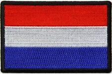 "(A49) DUTCH FLAG 3"" x 2"" iron on patch (5182) Biker"