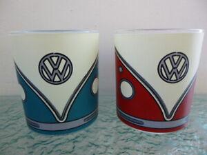 X2 Paladone Tumbler Beaker Glasses VW Camper Van Design Official VW Product