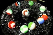 #1 Antique Marbles~(10)~Glass Multi-Color Swirl~Barn Find~Mint Condition~Nice!