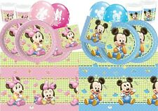 Baby Shower Mickey Minnie Mouse Birthday Party Tableware Decorations Supplies