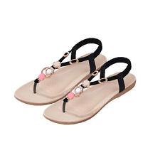 Markenlose Sandalen und Badeschuhe ohne Muster für Damen