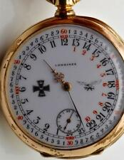 WWI German Luftwaffe Pilots award gold plated Longines 24h day/night dial watch