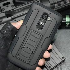 For LG Volt 2 Magna Defender Hybrid Rugged Hard Case Cover Skin Holster Stand