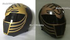Light up Mighty Morphin Power Rangers BLACK TIGER Life-size Helmet TV Hero Props
