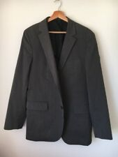 Esprit Brown  Size 40r Lined Pin Striped Cotton Mix Suit Style Jacket <T15458