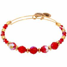 Alex and Ani Poinsettia Swarovski Crystal Beaded Bangle Bracelet A17EBSW08SG