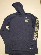 Washington Huskies Marled Hooded Sideline Long Sleeve Nike Shirt NCAA Size: L
