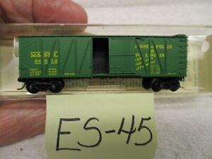 """ES-45 Kadee/Micro Trains N 28352 40' OB Braced SD Boxcar M&St L 24512 """"Peoria"""""""