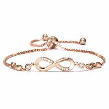 Crystal Rhinestone Rose Gold Ifinite Bridal Bracelet Bangle Women Jewelry Gift