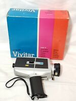 Vivitar Super 8 Model 84P Vintage Movie Camera 8mm w/ Original Box UNTESTED